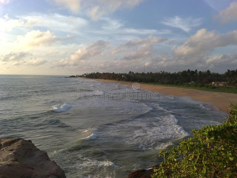 Ocean at evening. Best place to relax mind watching the horizon. Click by my mobile phone royalty free stock image