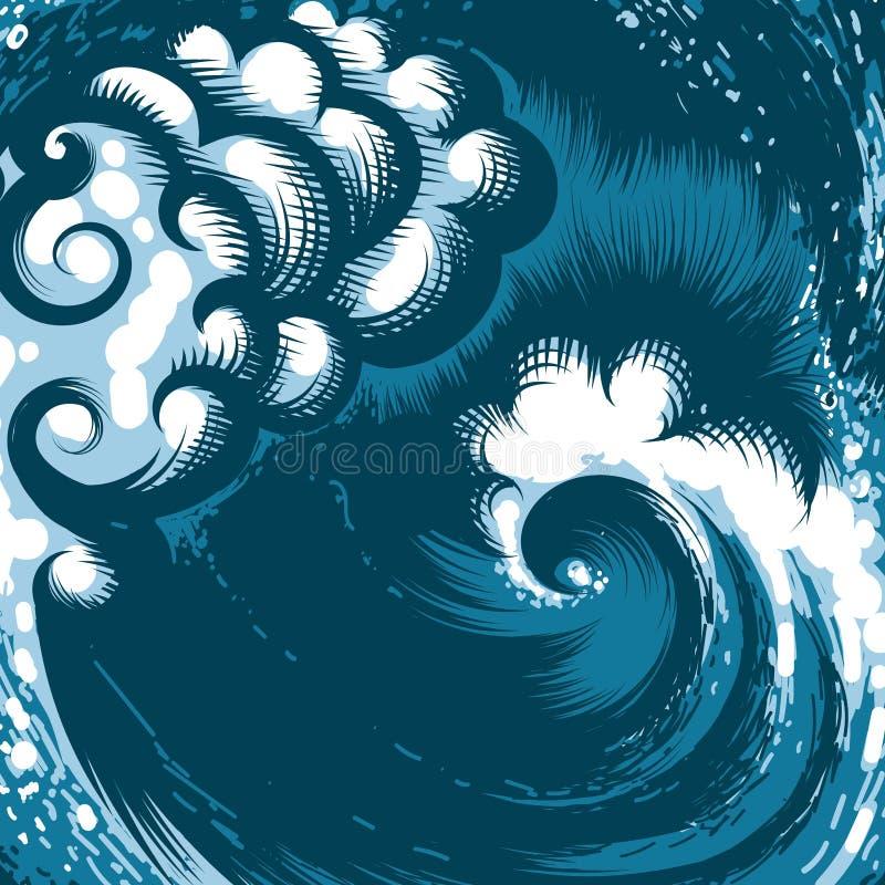 Ocean fala royalty ilustracja