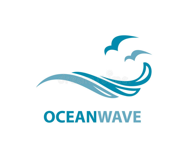 Ocean fala logo ilustracja wektor