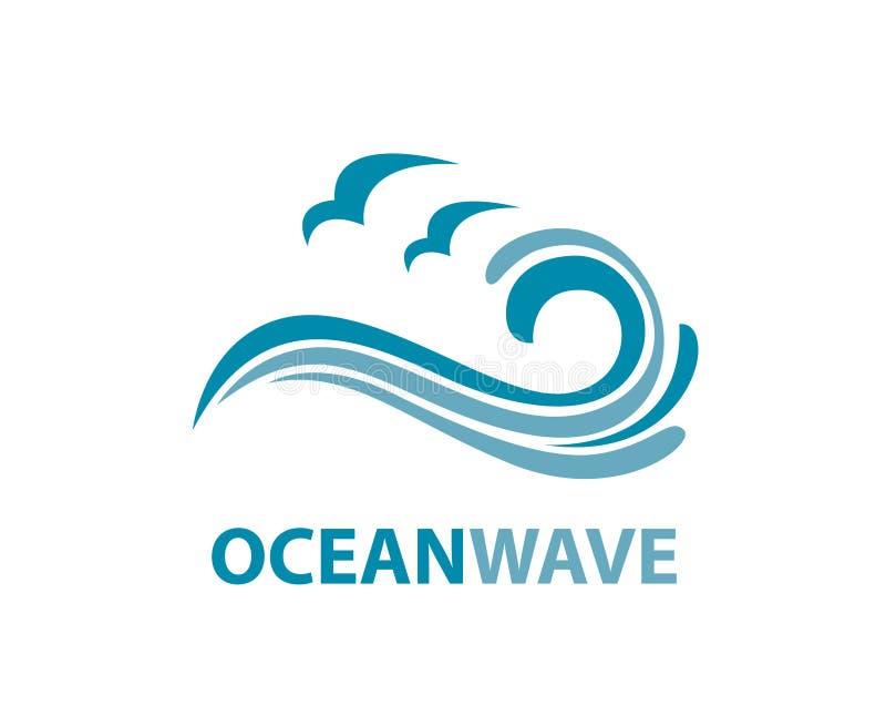 Ocean fala logo ilustracji