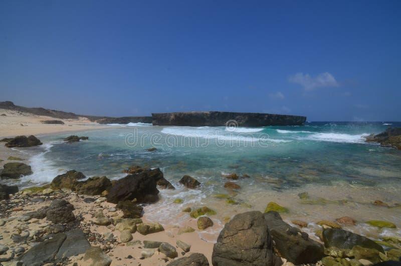 Ocean fala Rozbija na plaży przy Boca Keto zdjęcie stock