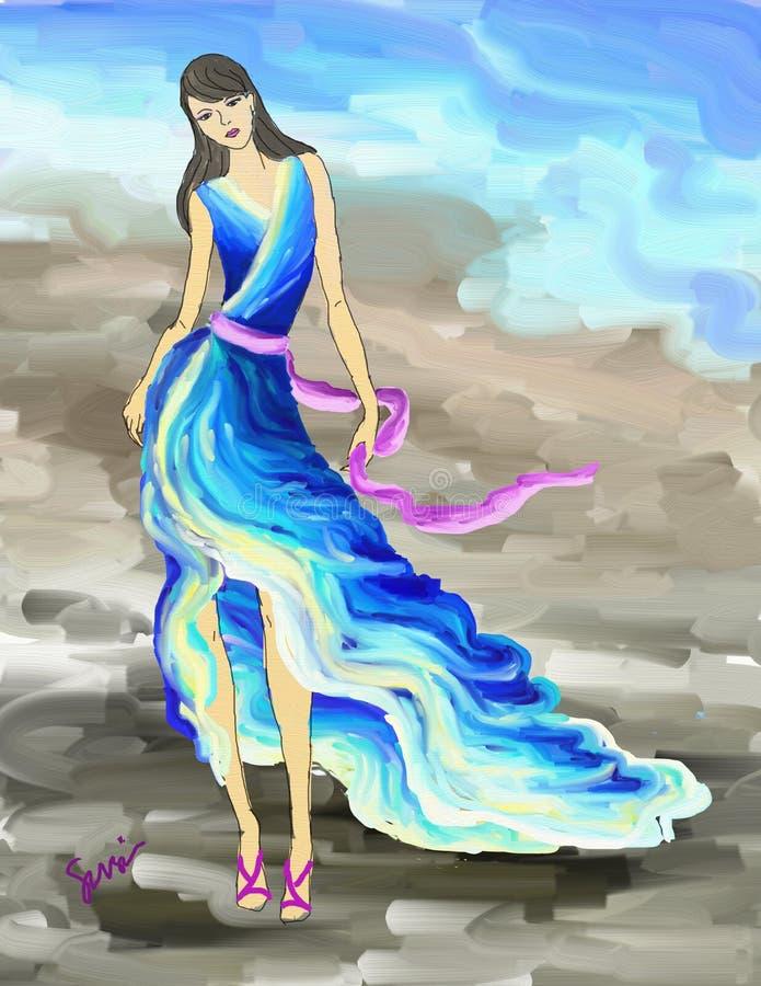 Ocean Fashion royalty free illustration