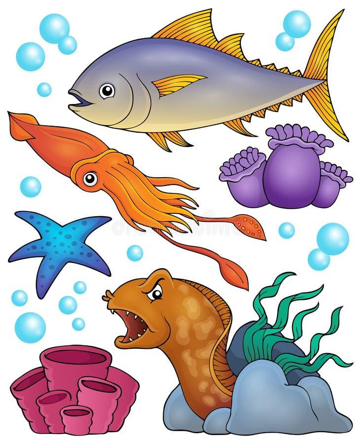 Ocean fauna topic set 2. Eps10 vector illustration vector illustration