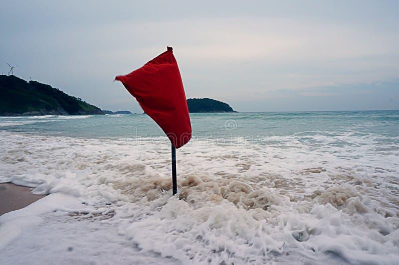 Ocean, flaga, morze, Thailand, fala, piana obrazy royalty free