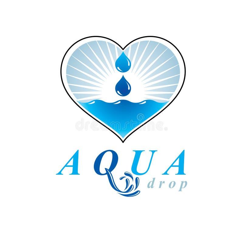 ocean freshness theme vector logo save water advertisement env