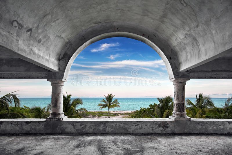 Ocean Front Mansion stock photography