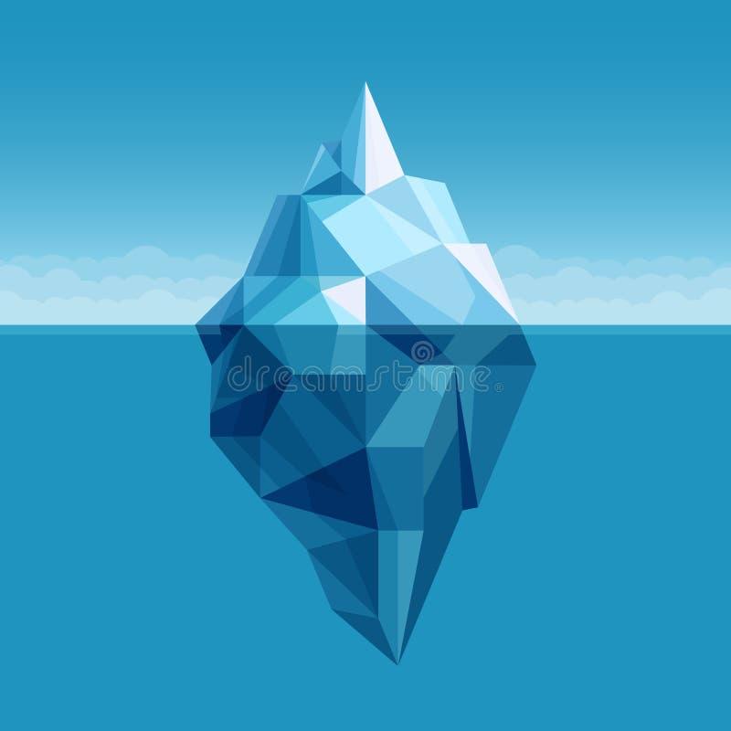 Ocean góry lodowa antarctic krajobrazu wektoru tło royalty ilustracja