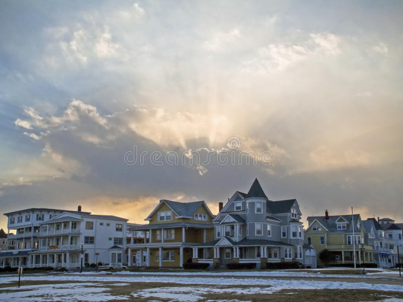 Download Ocean Grove View stock photo. Image of cloudscape, jersey - 28408770