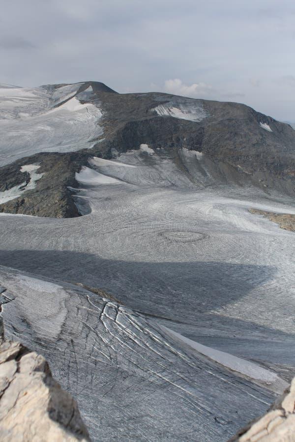 Ocean of ice - Glacier near Pralagnon, France stock photos