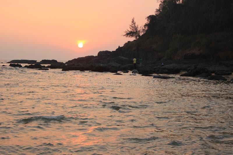 Ocean Indyjski Piękny zachód słońca fotografia royalty free