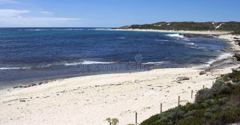Ocean Indyjski przy Margaret Rzeczną zachodnią australią w wczesnym lecie zdjęcia stock