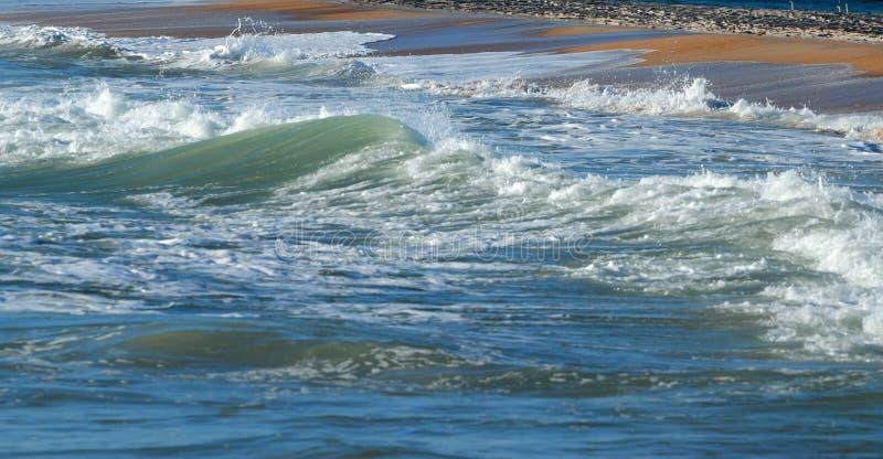 Ocean kipiel na plaży zdjęcie stock