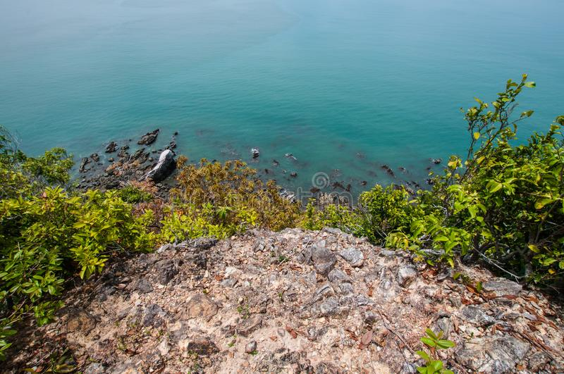 Ocean from Laem Sing hill scenic point. Landscape royalty free stock image
