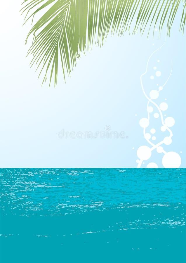 Download Ocean landscape vector stock vector. Image of leaf, land - 4808796