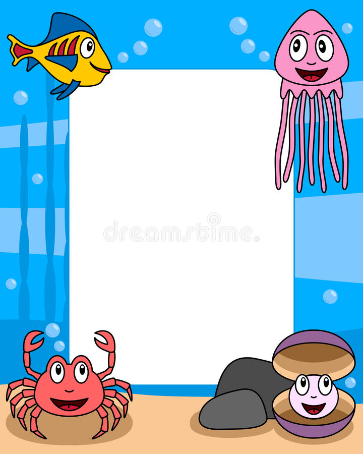 Download Ocean Life Photo Frame [3] Stock Photos - Image: 9392073