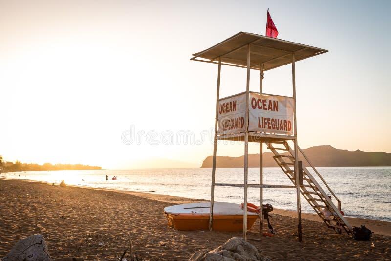 Ocean Lifeguard Tower stock photo