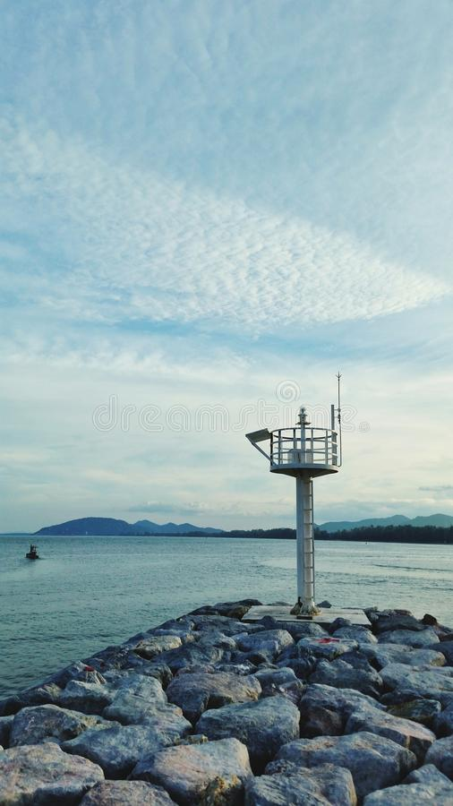 Ocean lighthouse and sea stock photos