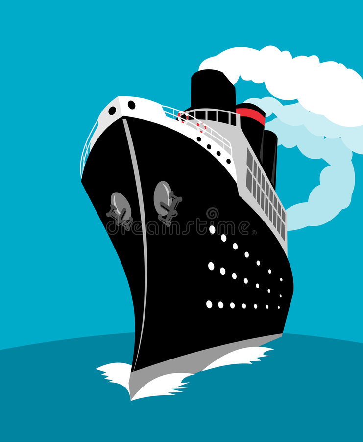 Ocean liner vector illustration