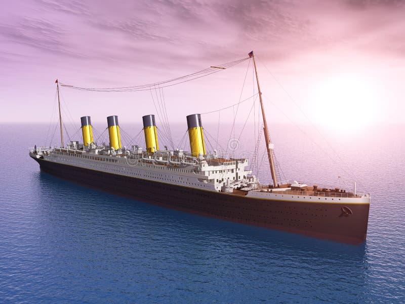 Download Ocean Liner stock illustration. Illustration of sunlight - 33029304
