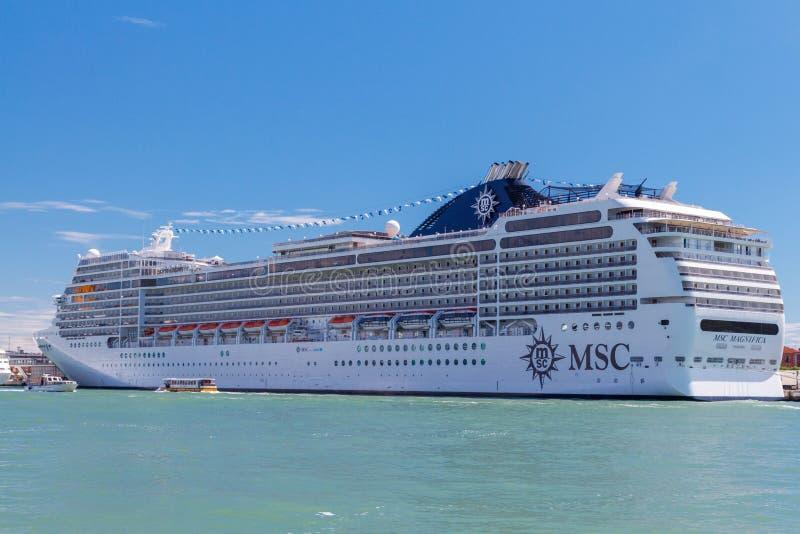 The ocean liner near the pier. Venice stock image