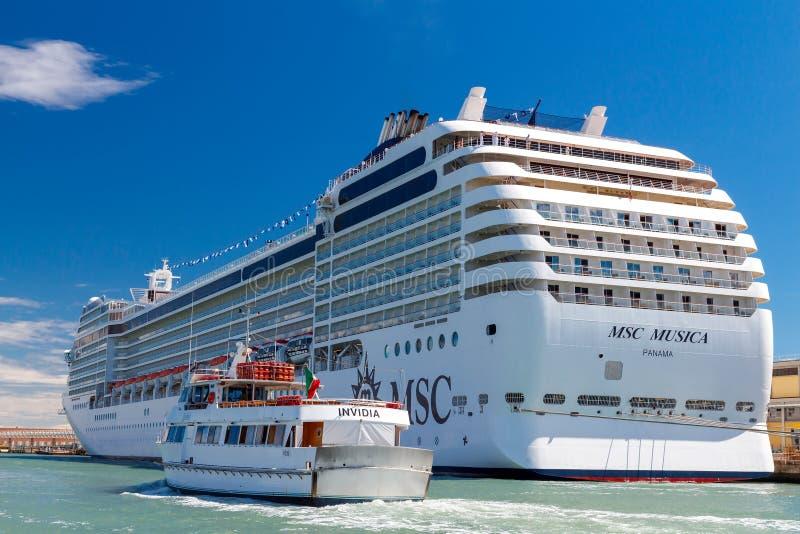 The ocean liner near the pier. Venice stock photos