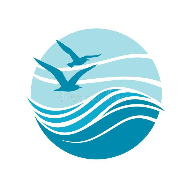 ocean logo design stock vector illustration of design 89336091 rh dreamstime com ocean logic ocean logistics los alamitos