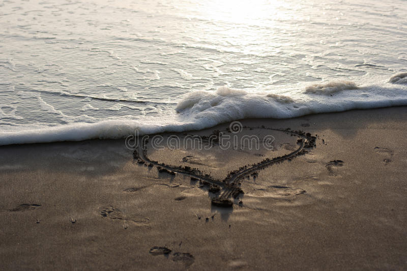 Download Ocean Love stock image. Image of erase, heart, water - 29263319