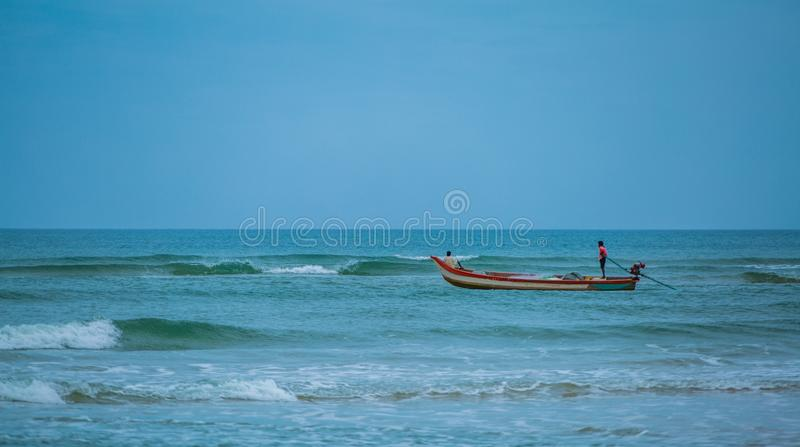 Ocean Makes us feel small but not in bad way . Small because we realize that we& x27;re part of  something bigger. Were, sea, fisher, fisherman, fishing royalty free stock image