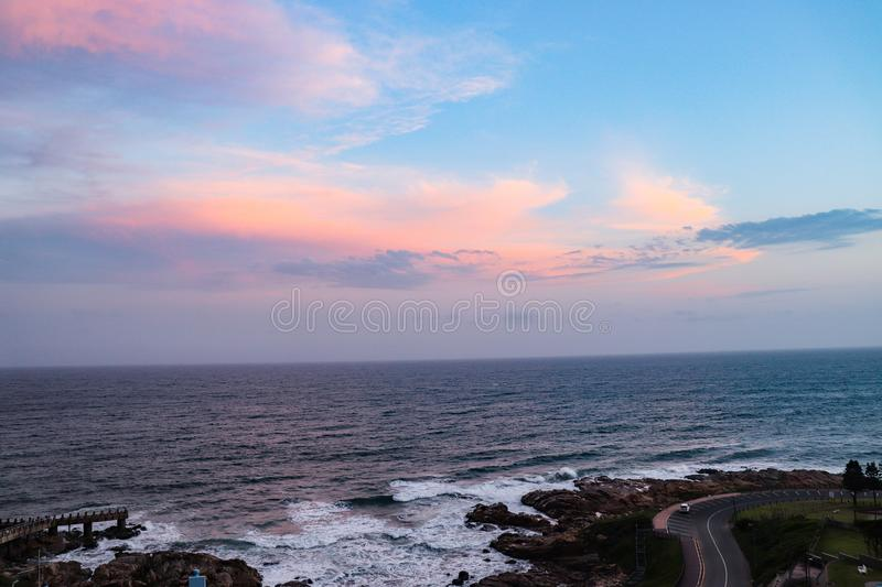 Waves on the rocks. Ocean in Margate South Africa royalty free stock photos
