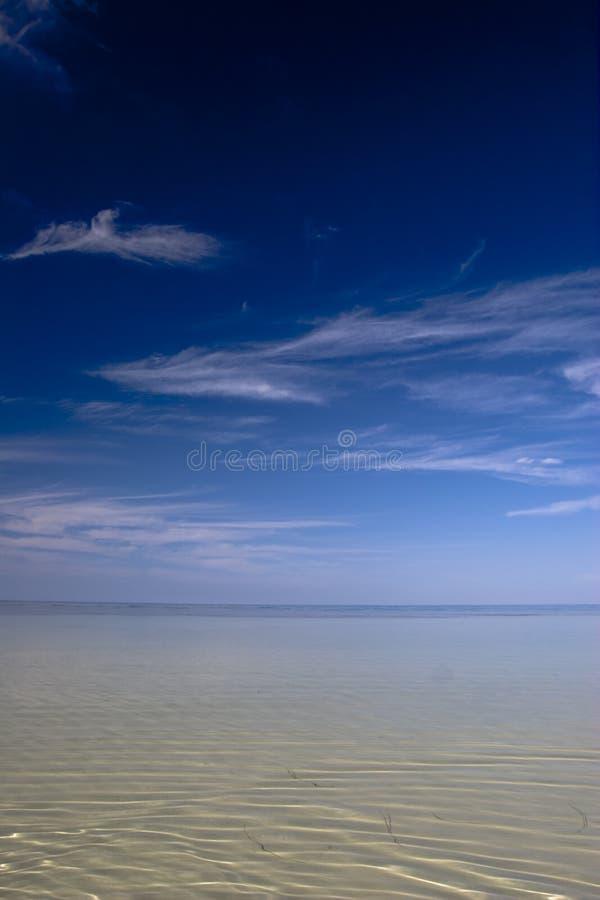 Ocean meeting sky in paradise royalty free stock image