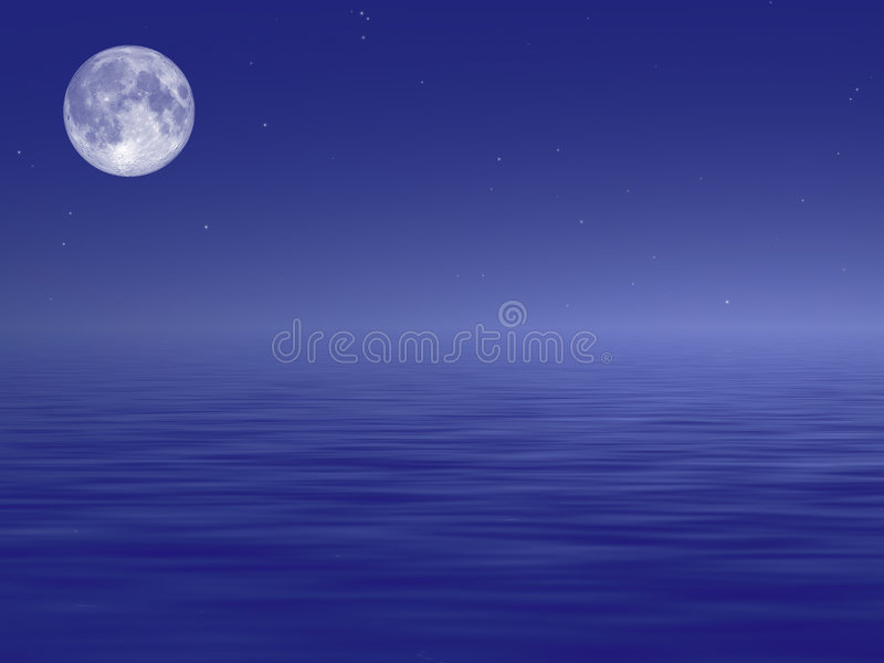 Download Ocean Moon stock illustration. Image of scene, backdrop - 2183844