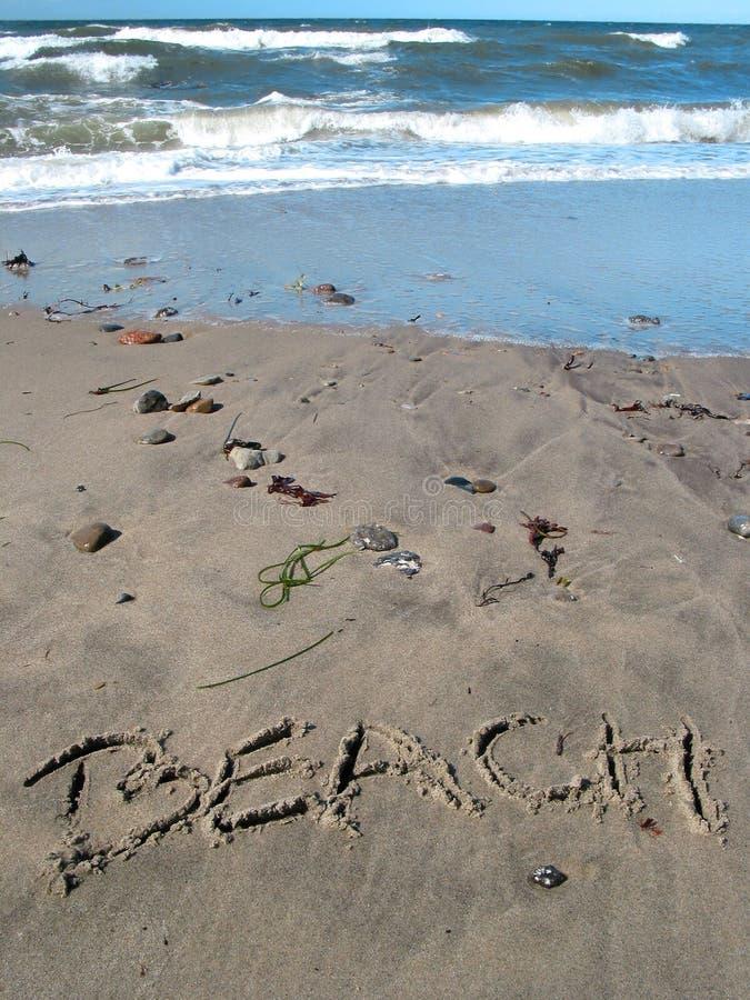 Download Ocean na plaży zdjęcie stock. Obraz złożonej z plaża, piaskowaty - 142936