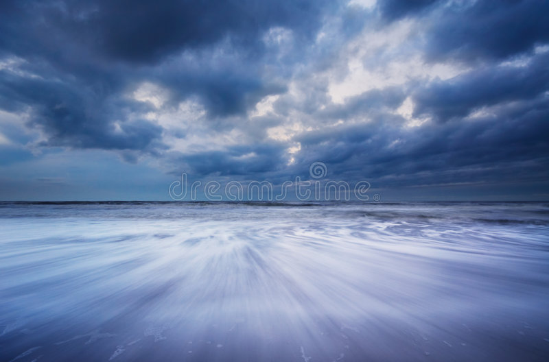 Ocean at night royalty free stock images