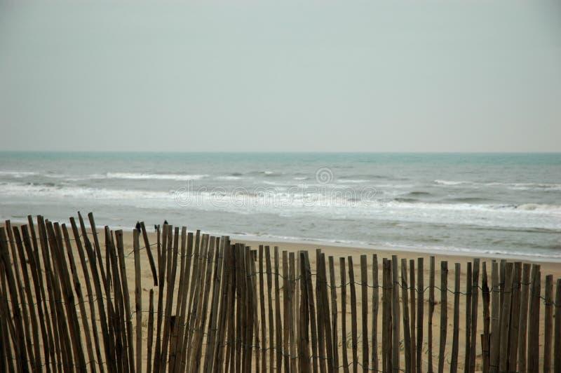 ocean płotu na plaży zdjęcia royalty free