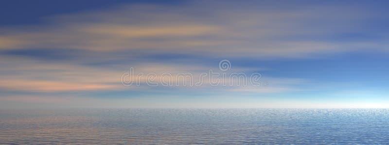 Ocean panorama royalty free illustration
