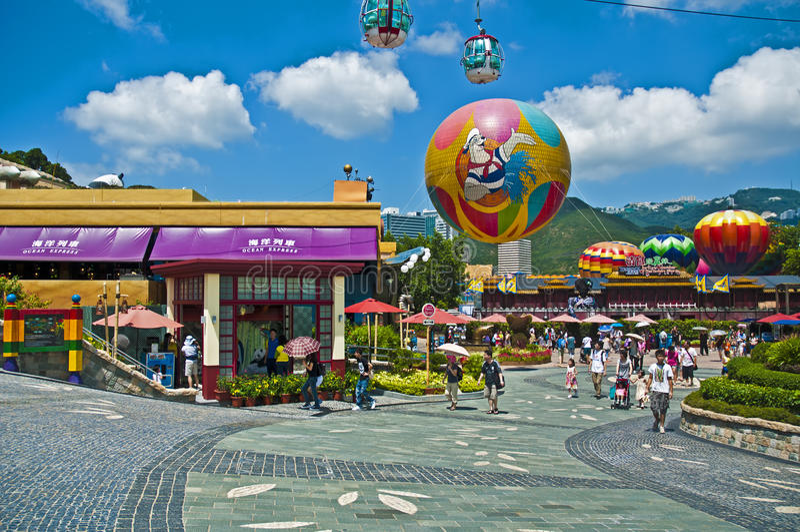Ocean park hong kong stock images