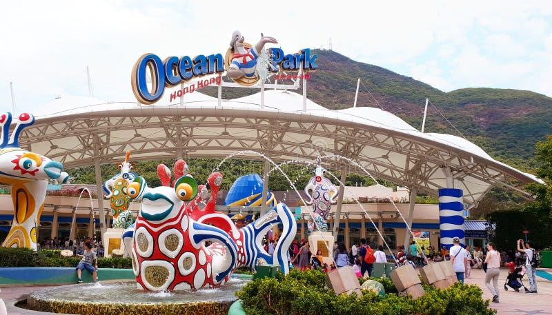 Ocean Park Theme Park, Hong Kong, Asia. April 2018 stock image