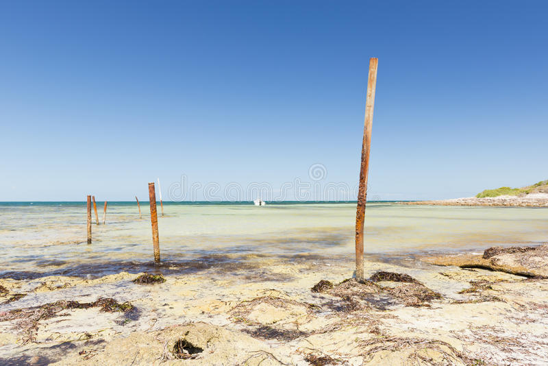 Download Ocean Poles stock photo. Image of poles, weathered, abstract - 29435762
