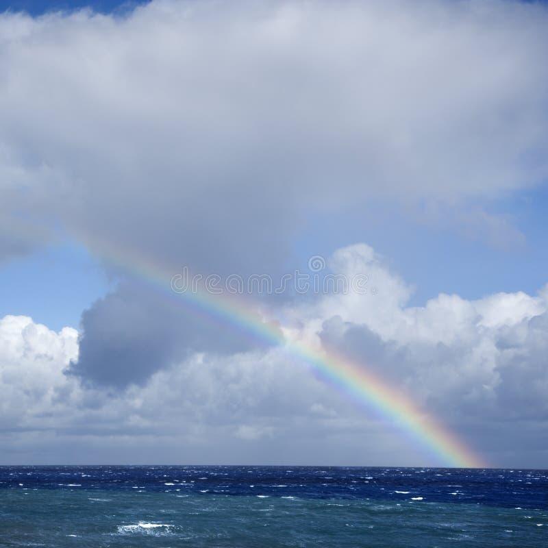 Download Ocean with rainbow. stock photo. Image of horizon, pacific - 3187648