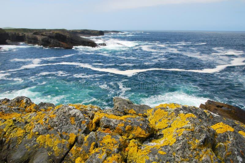 Ocean and rocks stock photo