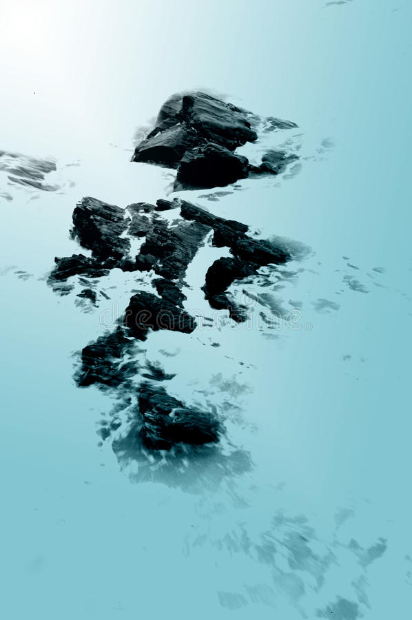 Free Ocean Rocks - Blue Stock Image - 12278201