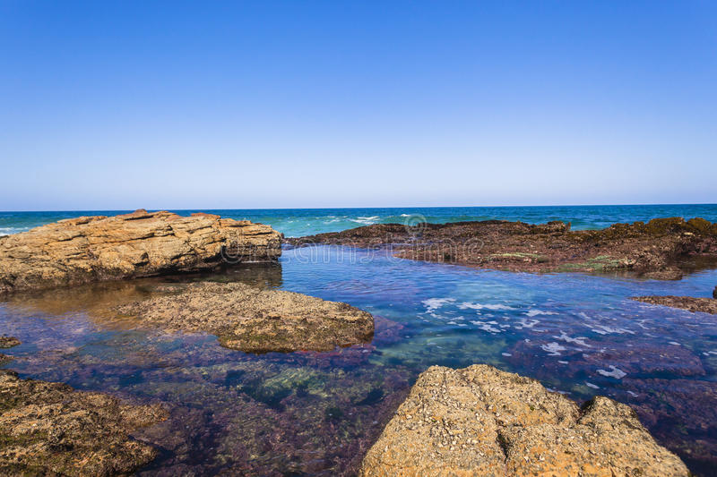 Ocean Rocky Pool royalty free stock photography