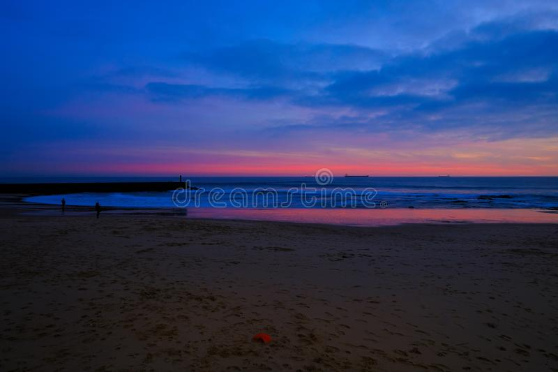 Ocean& x27;s sunset royalty free stock image