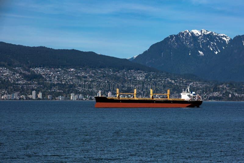 Ocean`s Tankers in Vancouver Harbor royalty free stock image