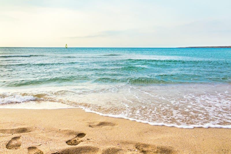 Ocean sand beach stock image