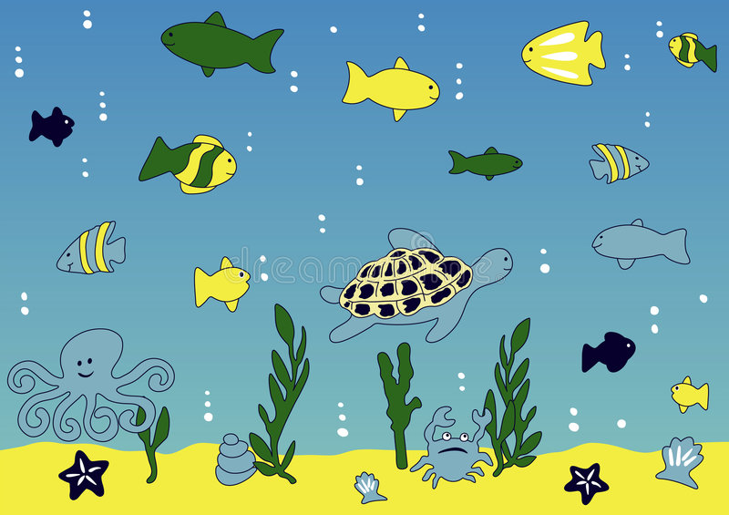 Download Ocean and sea life stock vector. Illustration of exotic - 2845358