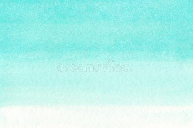 Ocean sea or sky blue azure turquoise watercolor abstract background. Horizontal watercolour gradient fill. Hand drawn texture. Pi. Ece of heaven sea ocean royalty free illustration