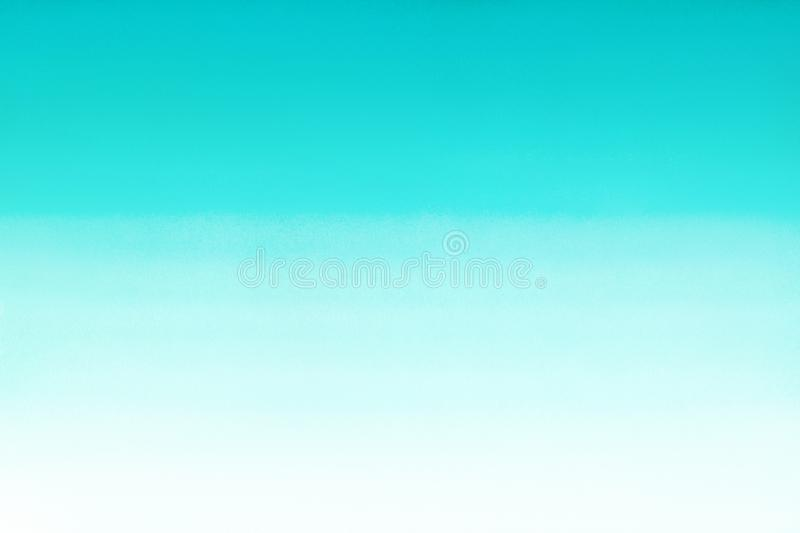 Ocean sea or sky blue azure turquoise watercolor abstract gradient background. Horizontal watercolour gradient fill. Hand drawn te royalty free stock photos