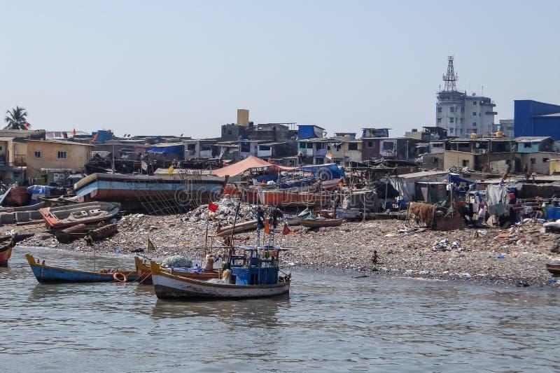 Ocean shore pollution, Colaba, Mumbai royalty free stock photos