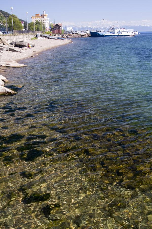 Download Ocean shoreline and beach stock image. Image of baikal - 11172727